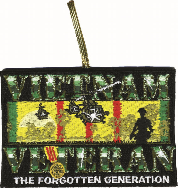 VIETNAM VETERAN Double-Sided Patch Ornament - HATNPATCH