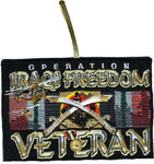 OPERATION IRAQI FREEDOM VETERAN Double-Sided Patch Ornament