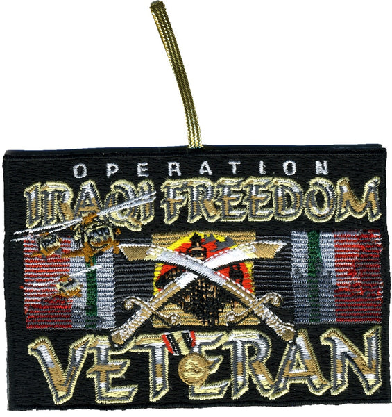 OPERATION IRAQI FREEDOM VETERAN Double-Sided Patch Ornament - HATNPATCH