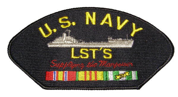 "U.S. NAVY LST'S ""Supplying the Manpower"" with ribbons Patch - Veteran Owned Business - HATNPATCH"