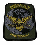 OPERATION ENDURING FREEDOM OEF W/ EAGLE PATCH AFGHANISTAN VETERAN