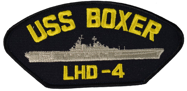 USS BOXER LHD-4 SHIP PATCH - GREAT COLOR - Veteran Owned Business