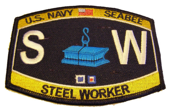 U.S. NAVY SEABEE CONSTRUCTION RATING STEEL WORKER SW PATCH