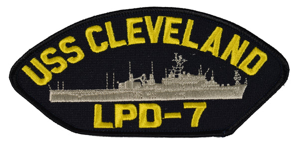 USS CLEVELAND LPD-7 SHIP PATCH - GREAT COLOR - Veteran Owned Business