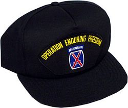 10TH MOUNTAIN OPERATION ENDURING FREEDOM HAT