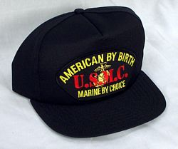 AMERICAN BY BIRTH, USMC BY CHOICE HAT