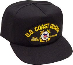 US COAST GUARD IRAQI FREEDOM VET HAT