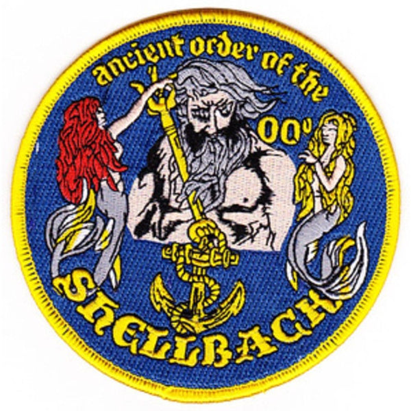 ANCIENT ORDER OF THE SHELLBACK PATCH CROSSING THE LINE CEREMONY NEPTUNE NAVY - HATNPATCH