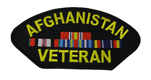 Afghanistan Veteran with 4 Ribbons Patch - Veteran Owned Business
