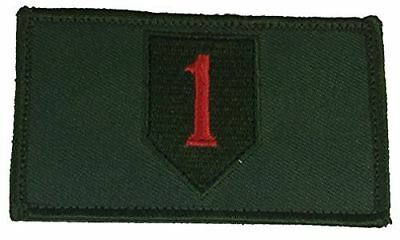US ARMY FIRST 1ST INFANTRY DIVISION ID 2 PIECE PATCH W/ HOOK AND LOOP BACKING