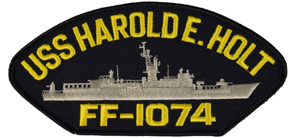 USS HAROLD E. HOLT FF-1074 SHIP PATCH - GREAT COLOR - Veteran Owned Business