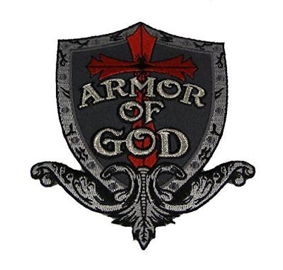 ARMOR OF GOD PATCH CROSS CHRISTIAN RELIGIOUS FAITH TESTIFY - HATNPATCH