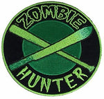 ZOMBIE HUNTER PATCH WALKING LIVING DEAD APOCALYPSE MACHETE BASEBALL BAT FUNNY