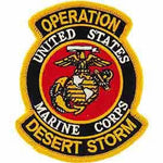 MARINE CORPS OPERATION DESERT STORM PATCH - Bright Colors - Veteran Owned Business. - HATNPATCH