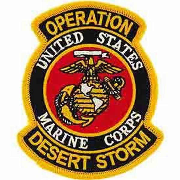 MARINE CORPS OPERATION DESERT STORM PATCH - Bright Colors - Veteran Owned Business.