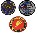 Military Black History Patch Set - Color - Veteran Owned Business.