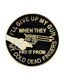 2nd Amend Cold Dead Fingers Pin