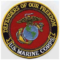 DEFENDERS OF OUR FREEDOM -  MARINE CORPS PATCH - HATNPATCH