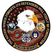 FALLEN HEROES DEFENDER OF FREEDOM (Large) PATCH - HATNPATCH