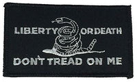 LIBERTY OR DEATH DON'T TREAD ON ME GADSDEN FLAG PATCH RATTLESNAKE TEA PARTY