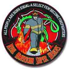 Firefighter: AMERICAN SUPERHERO PATCH