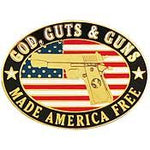 God, Guts and Guns Pin - HATNPATCH
