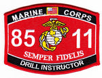 US Marine Corps 8511 Drill Instructor MOS Patch