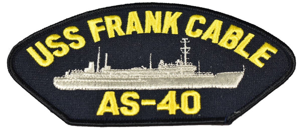 USS FRANK CABLE AS-40 SHIP PATCH - GREAT COLOR