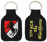 US ARMY 11TH ACR ARMORED CAVALRY REGIMENT THE BLACKHORSE KEY CHAIN VETERAN - HATNPATCH