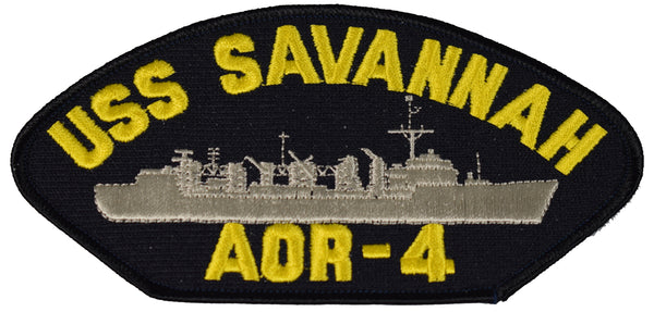USS SAVANNAH AOR-4 SHIP PATCH - GREAT COLOR - Veteran Owned Business - HATNPATCH