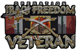 Large Operation Iraqi Freedom Veteran Jacket Back Patch