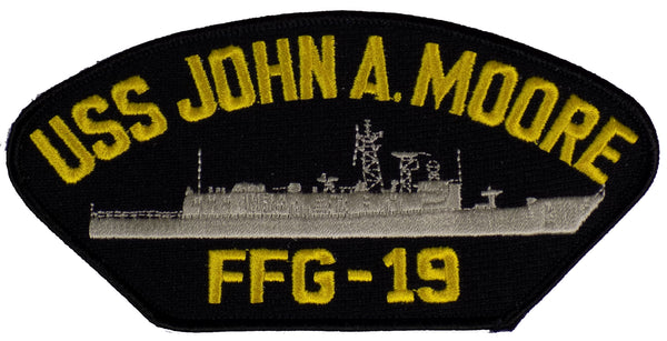 US Navy USS JOHN A. MOORE FFG-19 PATCH - Found per customer request! Ask Us! - HATNPATCH
