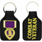 PURPLE HEART MEDAL COMBAT VETERAN KEY CHAIN WIA WOUNDED WARRIOR - HATNPATCH