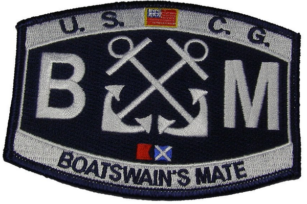 USCG COAST GUARD BOATSWAIN'S MATE BM RATING MOS PATCH VETERAN CROSSED ANCHORS