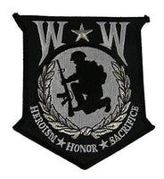 LARGE WW WOUNDED WARRIOR PATCH HEROISM HONOR SACRIFICE WIA DISABLED VETERAN - HATNPATCH