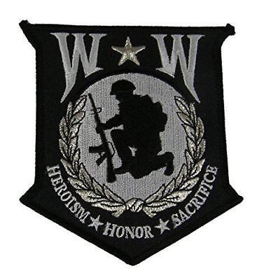 LARGE WW WOUNDED WARRIOR PATCH HEROISM HONOR SACRIFICE WIA DISABLED VETERAN