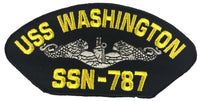 USS WASHINGTON SSN-787 SHIP PATCH - GREAT COLOR - Veteran Owned Business