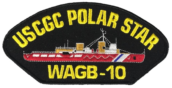 USCGC POLAR STAR WAGB-10 SHIP PATCH - GREAT COLOR - Veteran Owned Business - HATNPATCH