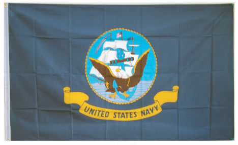 Nylon US NAVY Flag 3 X 5
