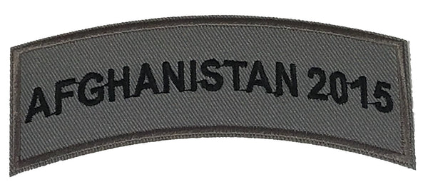 AFGHANISTAN 2015 TAB ROCKER PATCH