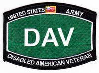 US Army DAV Disabled American Veteran Patch - HATNPATCH