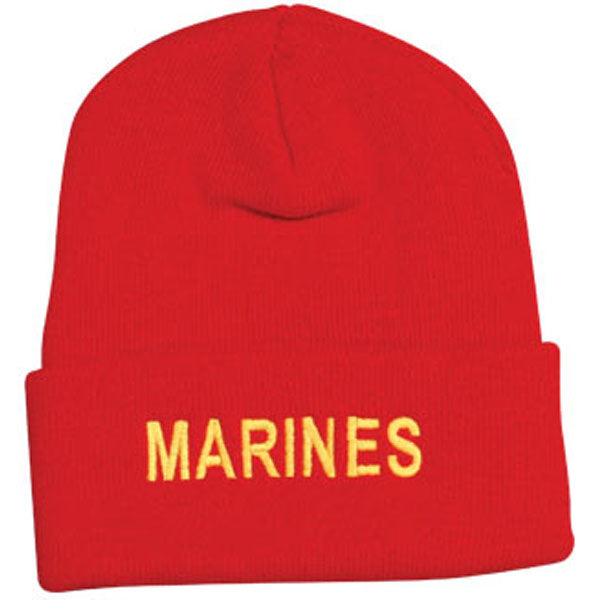 MARINES Letters Direct Embroidered Red Watch Cap