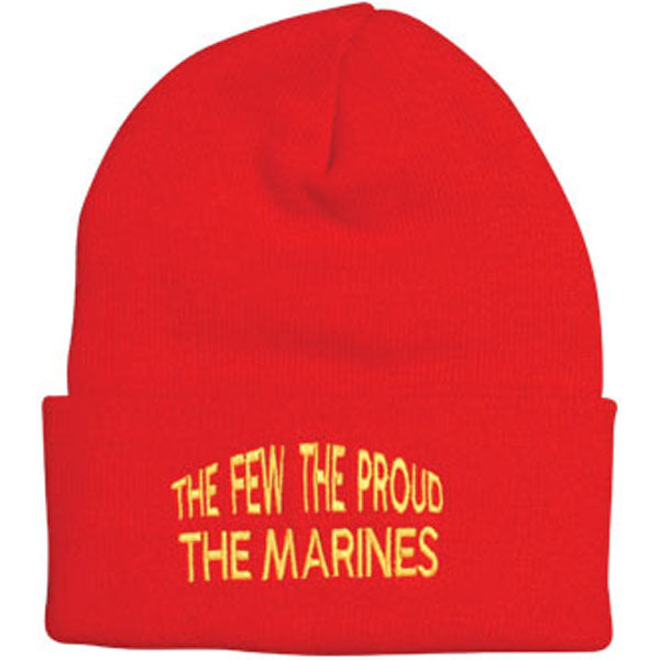 The Few The Proud The Marines Direct Embroidered Red Watch Cap