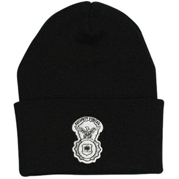Security Forces Direct Embroidered Black Watch Cap