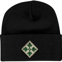 4th Infantry Division Direct Embroidered Black Watch Cap