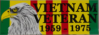Vietnam Veteran 1959 - 1975 Bumper Sticker - HATNPATCH