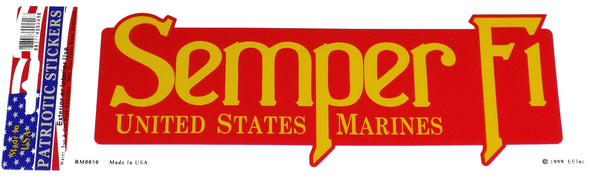 SEMPER FI MARINES Bumper Sticker - HATNPATCH