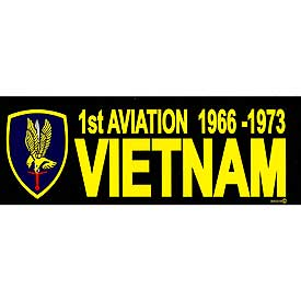 1st Aviation Brigade Vietnam Bumper Sticker