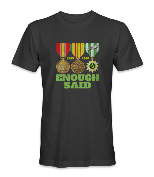 ENOUGH SAID Vietnam War Medals T-Shirt - HATNPATCH