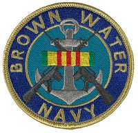BROWN WATER NAVY W/ VIETNAM SERVICE RIBBON PATCH